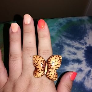 Jewelry - Handmade Chunky Butterfly Ring